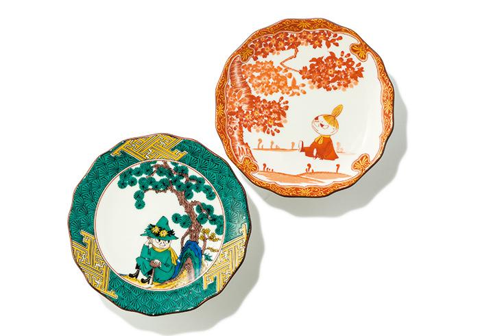 絵皿 全5種類。直径13㎝ 各¥1,800(amabro/村上美術☎03・5457・1210)ⒸMoomin Characters