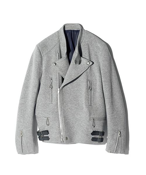 SCYE × LOOPWHEELER sweat biker jacket