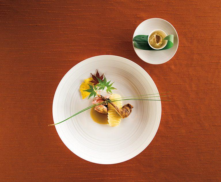 THE HIRAMATSU HOTELS&RESORTS 熱海のディナー、開業記念コースより。