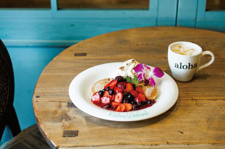 〈Kailua Weekend〉の「トリプルベリー・パンケーキ」