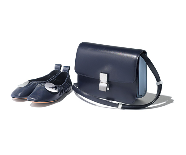 CÉLINE bi-color bag & ballerina shoes