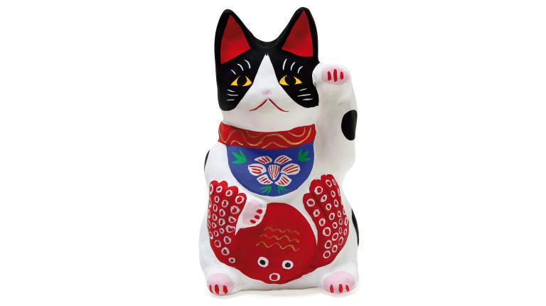 多幸猫5,000円(鴨方土人形橋本淳一☎0865・44・2976)。