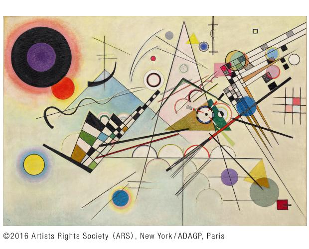 ワシリー・カンディンスキー「コンポジション8」1923年 ©2016 Artists Rights Society (ARS), New York/ADAGP, Paris