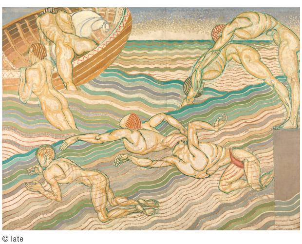 ダンカン・グラント「水浴び」1911年 ©Tate