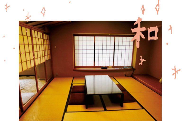 ホテル内に一つだけ存在する和室。坪庭や檜香るお風呂まであって高級旅館さながら。