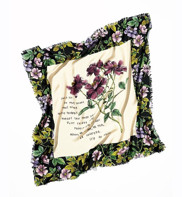 GUCCI flower print scarf