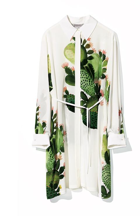 SPORTMAX cactus over blouse