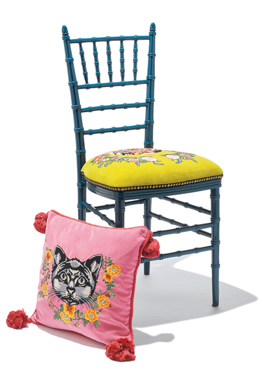 GUCCI embroidery chair & cushion