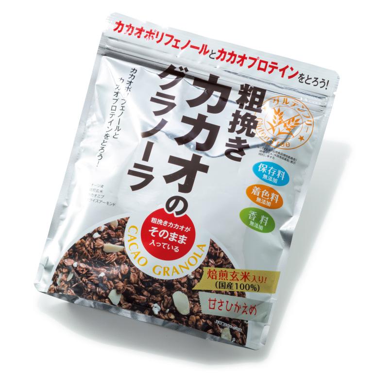 粗挽きカカオのグラノーラ ¥500(200g)幸福米穀 TEL:072・838・0100 http://www.e-komeya.co.jp