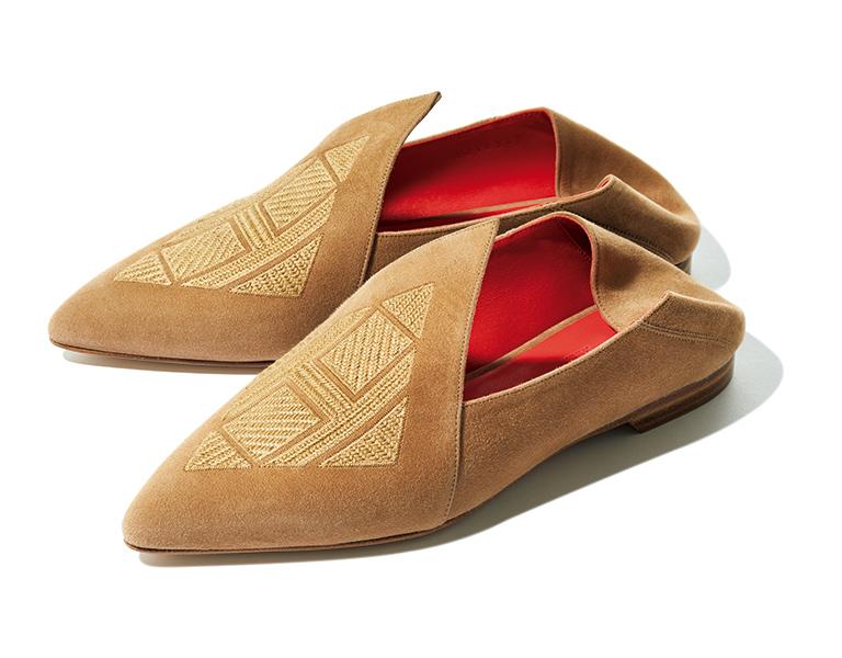 HERMÈS leather shoes