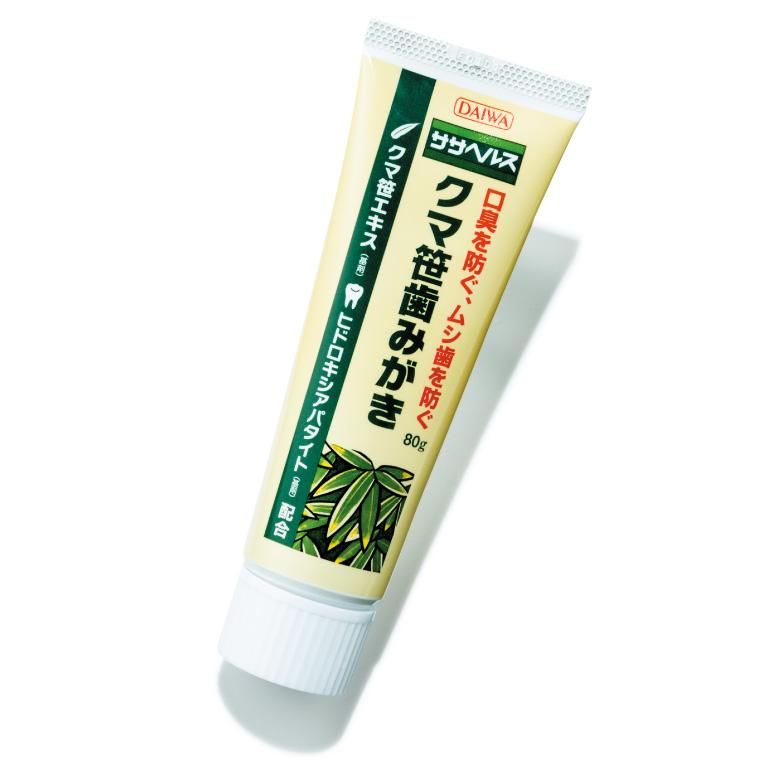 クマ笹歯みがき ¥1,200(80g) 大和生物研究所TEL:044・819・2296 http://www.sasa-health.com