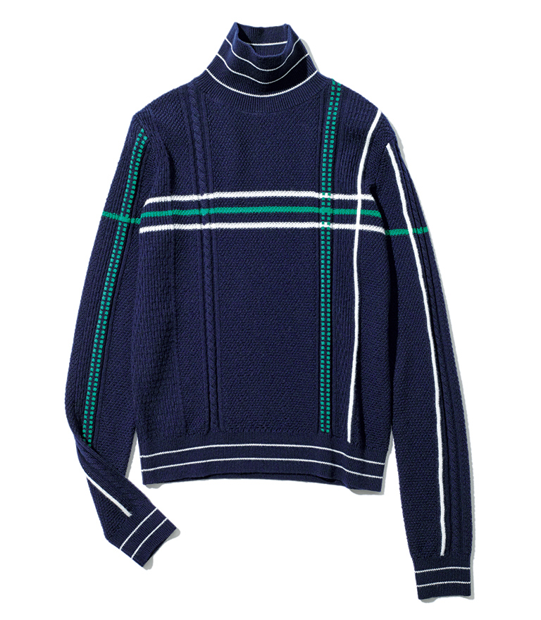 CARVEN knit striped