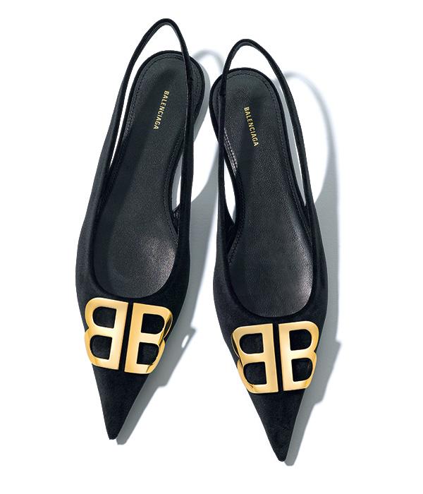 BALENCIAGA bb suede sandals