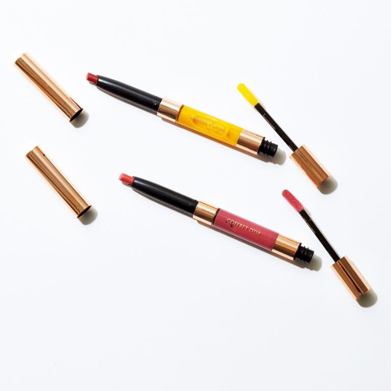 コフレドール コントゥアリップデュオ(上からEX02、EX01)各¥2,800*編集部調べ 限定発売(カネボウ化粧品)