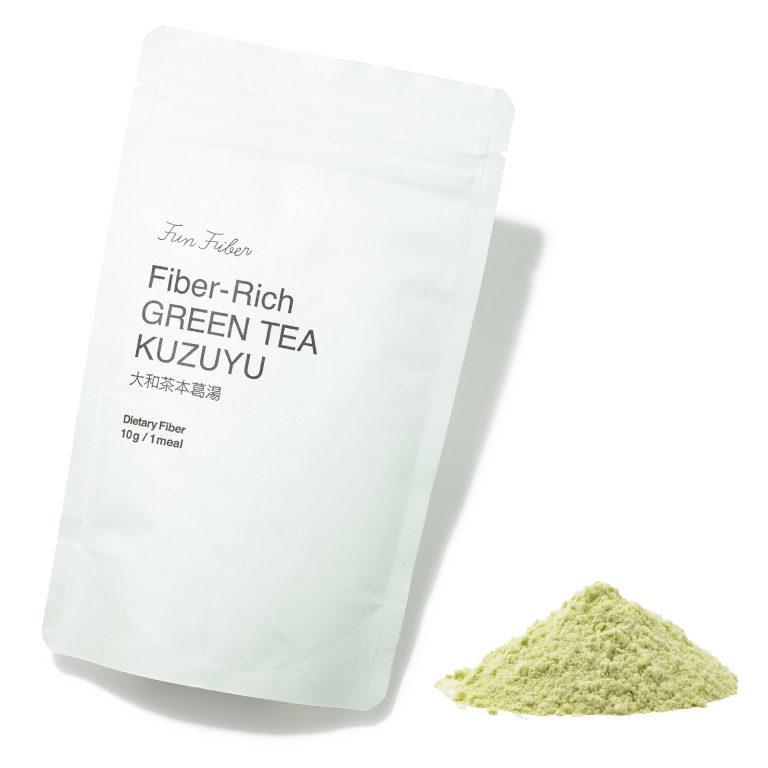 Fiber-Rich GREEN TEA KUZUYU 大和茶本葛湯 115g ¥1,670(税込み) FUN FIBER(ファン ファイバー)☎0120・355・433 http://www.funfiber.jp/