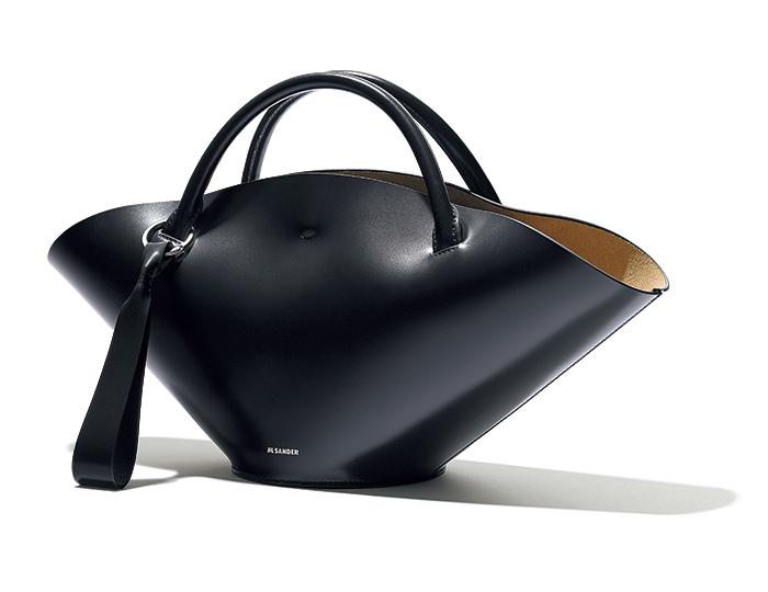 JIL SANDER contemporary black bag