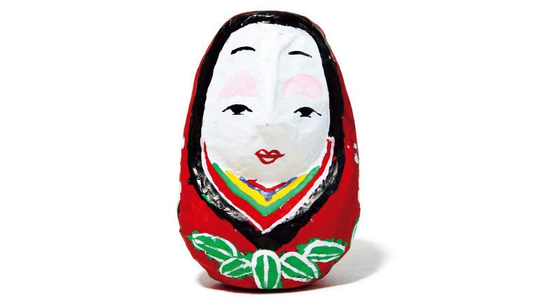 姫だるま1,500円(千石や☎0974・62・ 2046)。