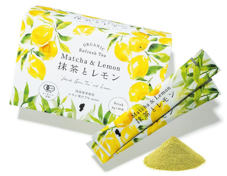オーガニック 抹茶&レモン ¥4,000(6g×30包)ハリウッド化粧品☎0120・430334 https://hollywood-jp.com