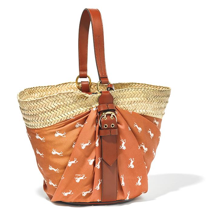 CHLOÉ basket bag with scarf