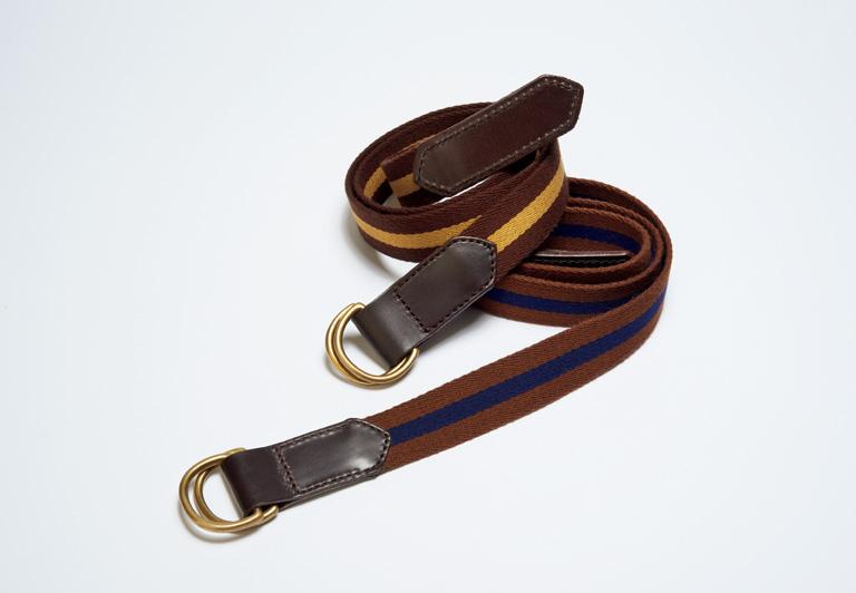 細部まで品格がある 英国製のリボンベルト。