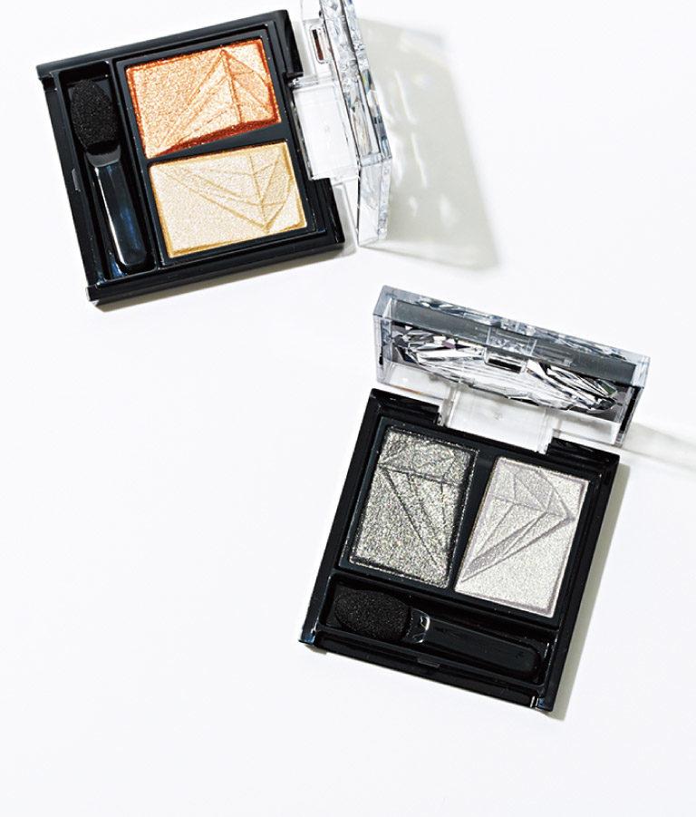 クラッシュダイヤモンドアイズ(上からBR-1、BK-1)各¥1,200 *編集部調べ8/1発売(カネボウ化粧品☎0120・518・520)