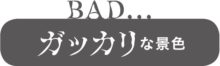 BAD… ガッカリな景色