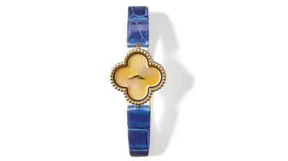 〈ヴァン クリーフ&アーペル〉の時計ほか3点を紹介。