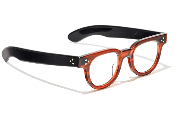JULIUS TART OPTICAL × HYKE bi-color frame glasses