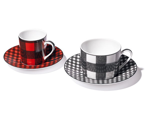 DIOR MAISON checkered cup and saucer