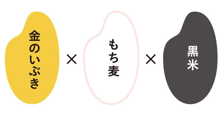 金のいぶき×もち麦×黒米
