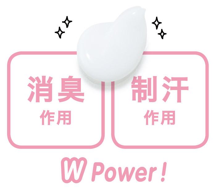 消臭作用・制汗作用 WPower!