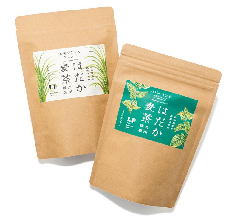 はだか麦茶 レモングラスブレンド、ペパーミントブレンド 各¥980(12ティーバッグ入り) LP ☎096・221・7604 http://lp-jpn.jp