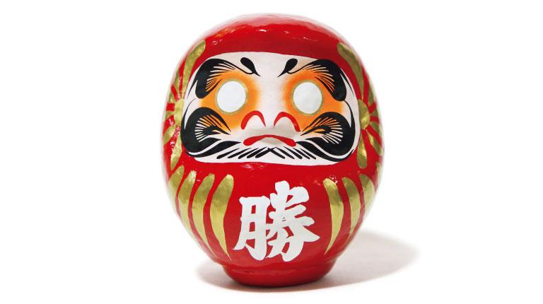 勝ちダルマ10号2,000円〜(勝尾寺☎072・721・7010)。特10号まであり。