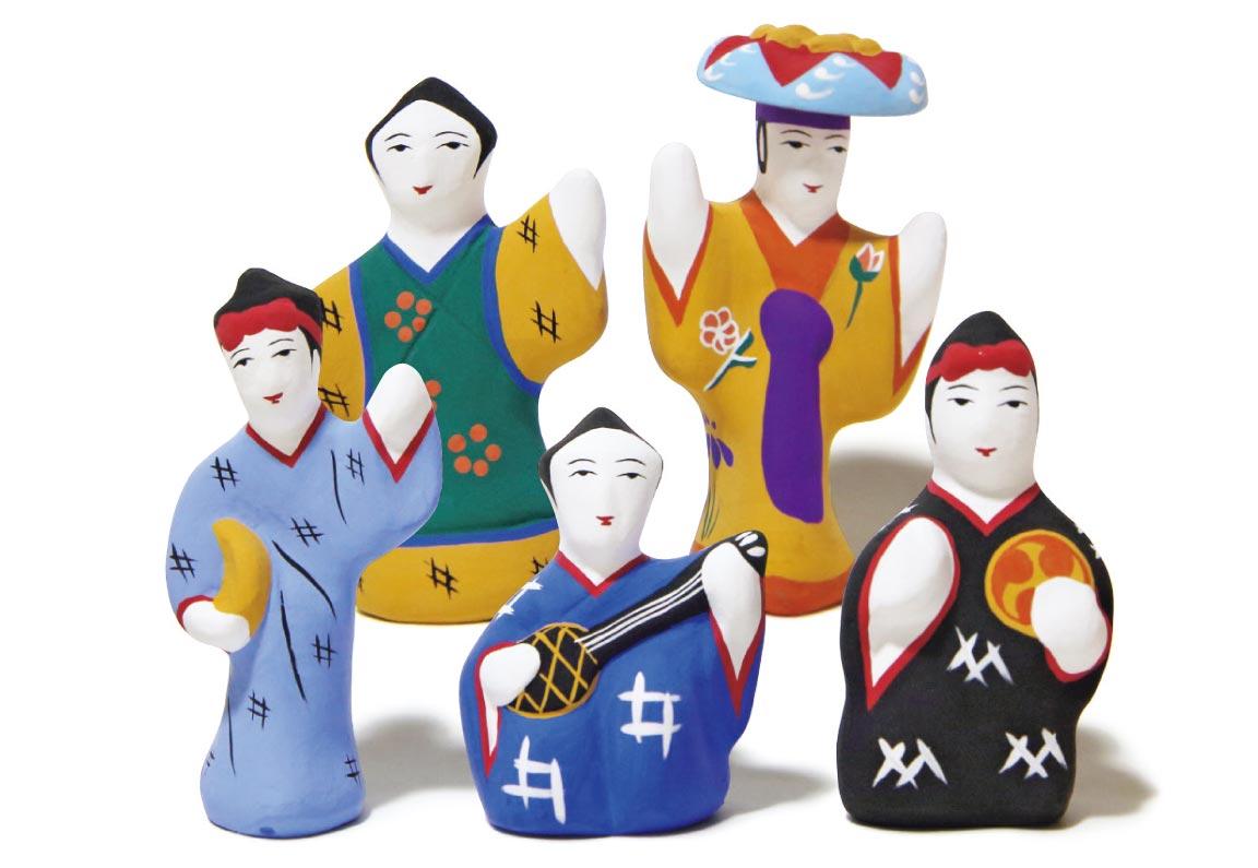 ンーチャフトゥキ4,000円*5体セット(琉球玩具製作所こくらryukyuhariko@gmail.com)。