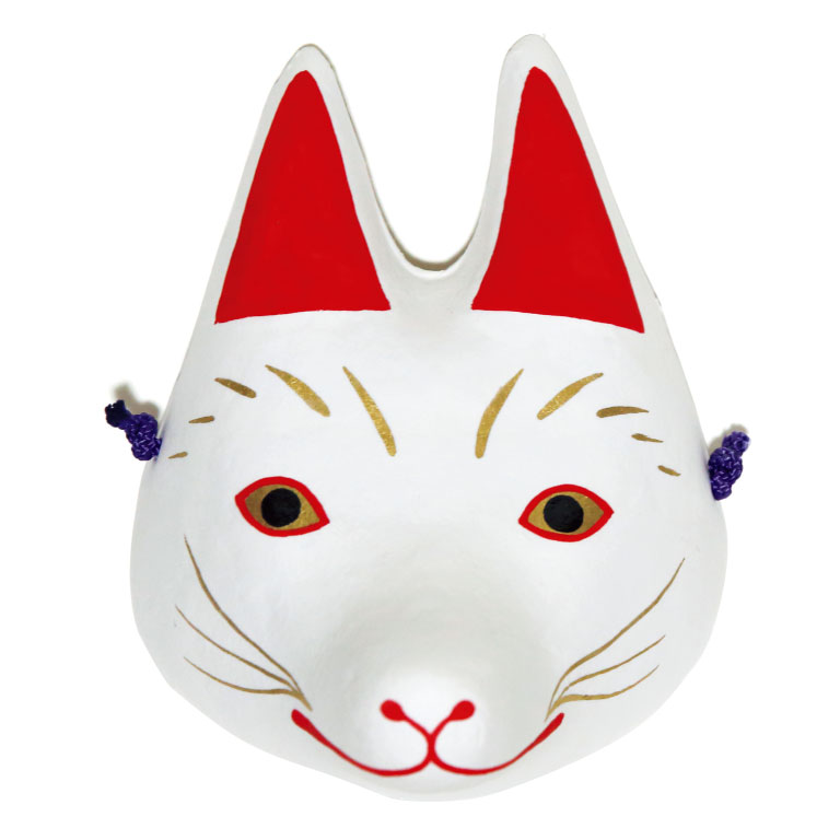 おとぎ面・いなり狐。2,500円。