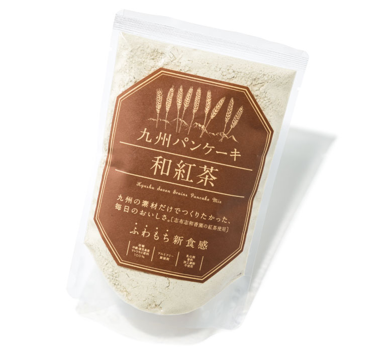 九州パンケーキ 和紅茶 ¥490(200g) 九州テーブル info@kyushu-pancake.jp https://www.kyushu-island.jp