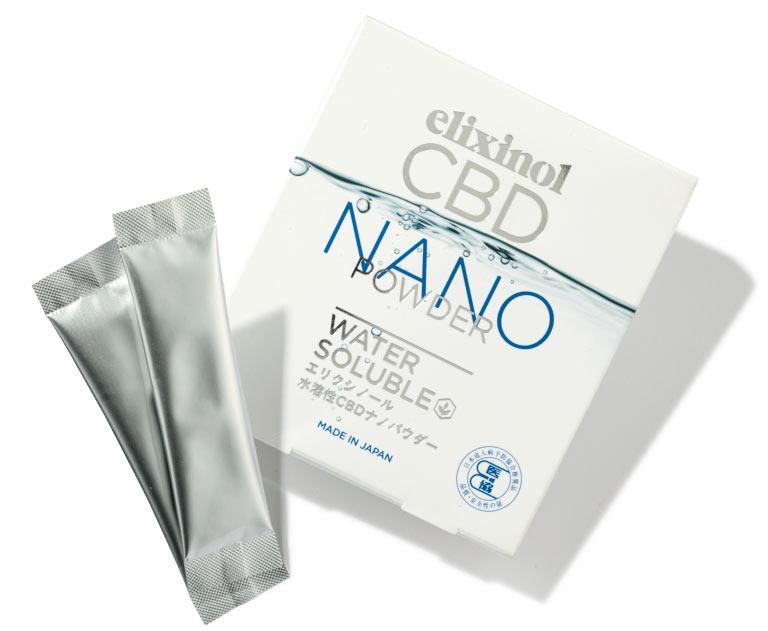 エリクシノール CBD ナノパウダー ¥7,560(2g×10本) エリクシノール☎0120・870・420 https://elixinol.co.jp
