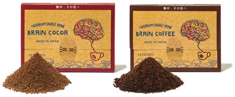 左:ブレイン ココア、右:ブレイン コーヒー