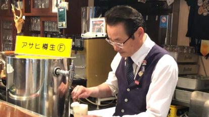 「ビールは生き物。だからね、……」と語る〈ビアライゼ'98〉の松尾光平さん。