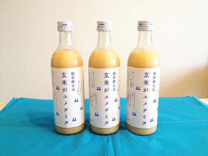 「玄米がユメヲミタ」は、農薬や化学肥料に頼らない農法によるブレンド米「コシヒカリアモーレ」と米麹のみで作られている。ノンアルコール・ノンシュガーで、クリーミーな舌触りと優しい甘味が特徴の健康発酵飲料。甘味料・添加物・保存料は不使用。