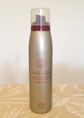 「アリミノ スプリナージュ UVシャワー」 トリプルケア処方で肌と髪の紫外線ダメージを一年中、防ぎながら補修する。SPF23 PA++